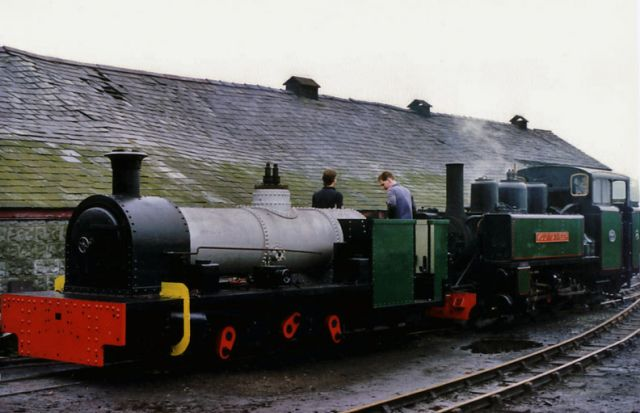 The Peckett and the Alco at Boston Lodge in 1987