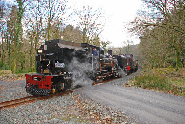 143 climbs north through Beddgelert Forest
