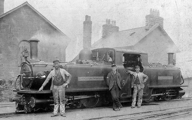 Livingston Thompson stands at Porthmadog. The locomotive can now be seen in the National Railway Museum in York.