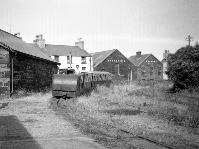 Porthmadog Harbour Station in 1955 - the effects of the years of neglect are clear to see