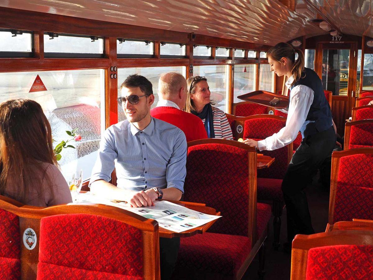 Ffestiniog Railway 3rd Class carriage interior