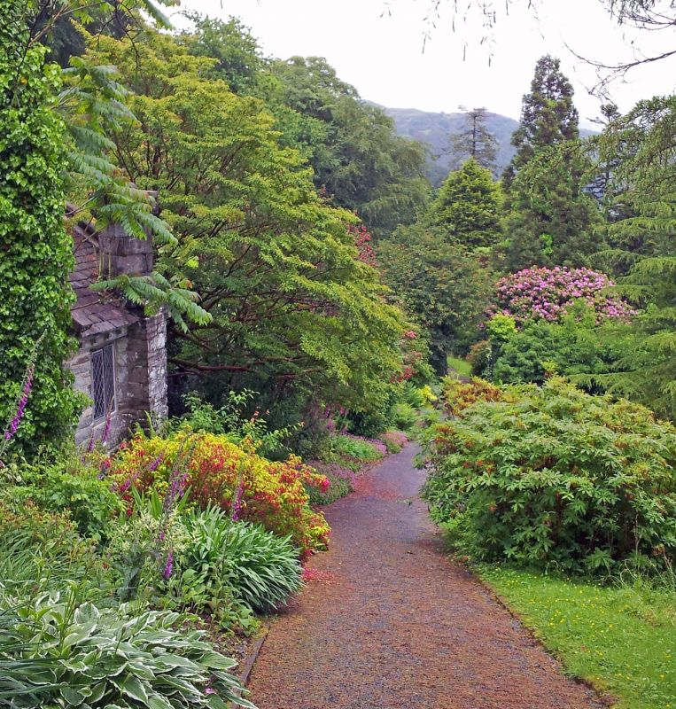 The gardens at Plas Tan y Bwlch