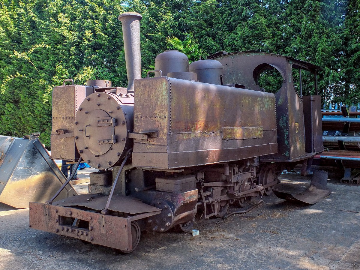 Baldwin 1058 (WDLR 608) in unrestored state following return to the UK.