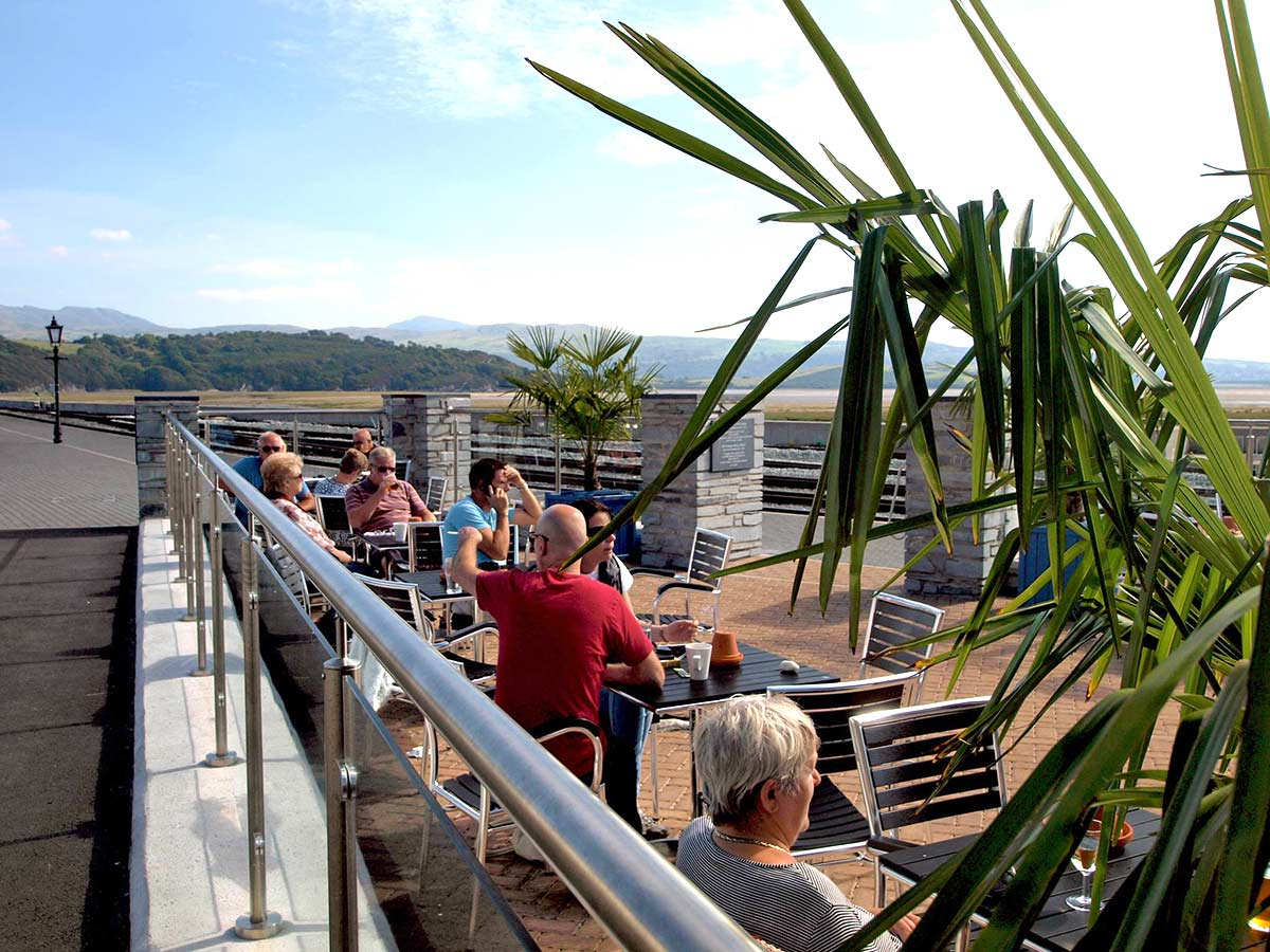 Watch the trains go by and enjoy refreshments in our Harbour Station Beer Garden