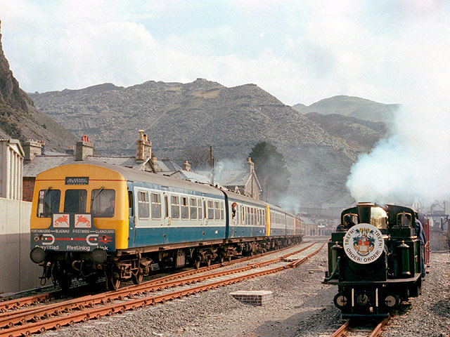 The official opening train at Blaenau Ffestiniog