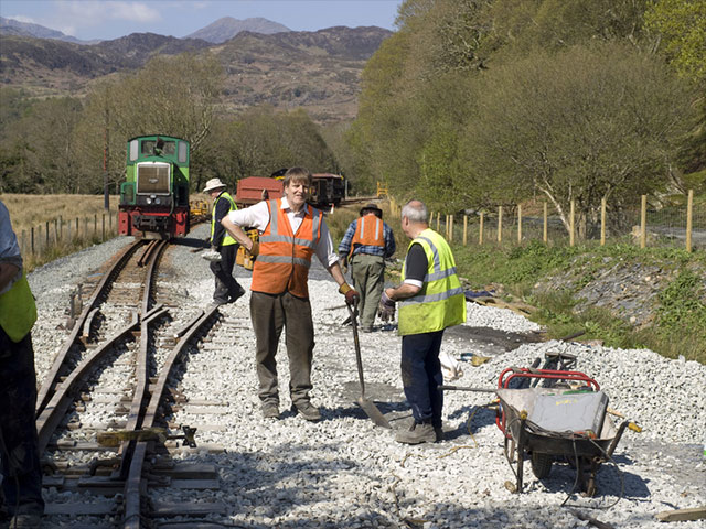 Tracklaying at Hafod y Llyn in 2008